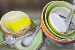 Zlew i naczynia Zdjęcie Royalty Free