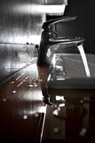 Zlew zbliżenia backlight Fotografia Stock