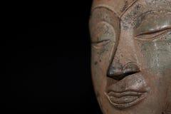 zlewający Pamiętająca kontemplacja na twarzy Buddha obrazy stock