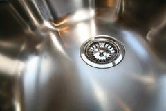 zlewu kuchennego talerze ze stali nierdzewnej Zdjęcie Stock