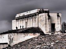 Zlikwidowana główna trybuna poprzednie Nazistowskiego przyjęcia wiecu ziemie Obraz Stock