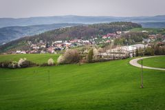 Zlin em República Checa Foto de Stock