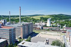 Zlin industrial district Royalty Free Stock Photography