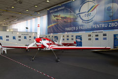 Zlin 50LS YR-ZAY. A Zlin 50LS YR-ZAY light aircraft, at the Bucharest International Air Show (BIAS) which took place in Bucharest in June 21-22, 2014. The Zlin Z stock image