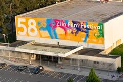 Zlin Międzynarodowy Ekranowy festiwal dla dzieci i młodość plakata na dużym kinie Obraz Royalty Free
