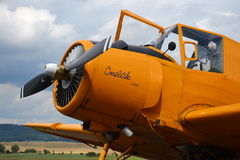Zlin Z-37 Cmelak airplane Royalty Free Stock Photos