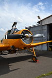 Zlin Z-37 Cmelak airplane Stock Photo