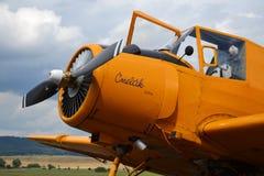Zlin Z-37 Cmelak samolot Zdjęcia Royalty Free
