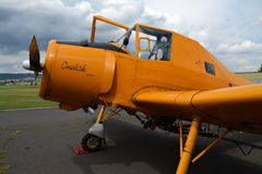 Zlin z-37 Cmelak-vliegtuig Stock Foto's