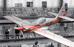 Zlin Z-50LA, OK-IRF, musée technique national, Prague, République Tchèque Photos stock