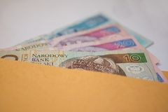 Zlote. Zloty - banknotes of polish currency Stock Photo