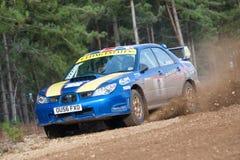Zlotny Subaru Impreza fotografia stock