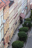 Zlotoryja,  germ. Goldberg,  Basztowa Street. Zlotoryja, Poland - June 16, 2015: Region: Lower Silesia.Top view of a charming Basztowa street Royalty Free Stock Image
