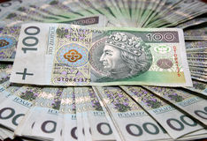 Zloty des Polnischen 100 Lizenzfreies Stockbild