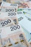 Zloty, euro y dólar polacos Imagenes de archivo