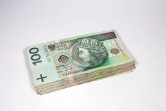 zloty 100 i polsk valuta Royaltyfri Fotografi