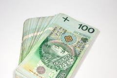 zloty 100 na moeda polonesa Fotos de Stock Royalty Free