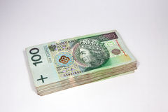 zloty 100 na moeda polonesa Fotografia de Stock Royalty Free