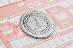 Zloty polacca Immagine Stock