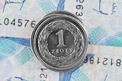 Zloty polacca Fotografia Stock