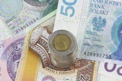 Zloty polacca di valuta Fotografia Stock Libera da Diritti