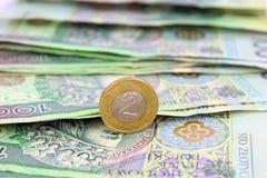 Zloty polacca (soldi) Immagini Stock