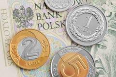 Zloty polacco Fotografia Stock