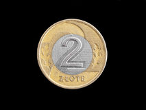 Zloty Polish coin Royalty Free Stock Image
