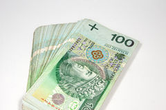 100 zloty in Polish currency Royalty Free Stock Photos