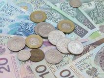 Zloty polonês Imagem de Stock