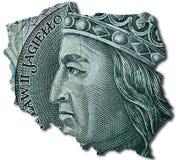 zloty 100 polonês ou PLN Foto de Stock Royalty Free