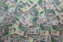 Zloty polonês. PLN. Fundo 4 Imagens de Stock