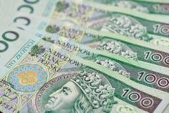 Zloty polonais d'argent de devise Photographie stock