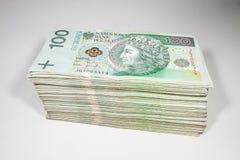 Zloty polonais de la devise 100 photographie stock libre de droits