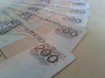 Zloty tvåhundra Royaltyfri Bild