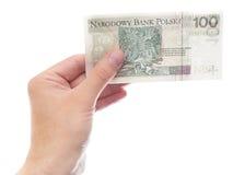 100 zloty (versione della parte) Immagini Stock