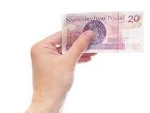 20 zloty (versione della parte) Fotografie Stock Libere da Diritti