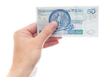 50 zloty (versione della parte) Fotografie Stock Libere da Diritti