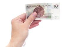 10 zloty (versione della parte) Fotografie Stock Libere da Diritti