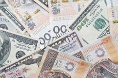 Zloty y dólar polacos, efectivo Imagen de archivo libre de regalías