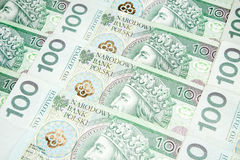 100 Zlotybanknoten - polnische Währung Stockfotografie