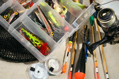 zluzować talie rybackich Fotografia Stock