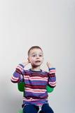Zmęczony mały chłopiec Royalty Free Stock Image