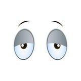 Zmęczeni kreskówek oczy ilustracja wektor