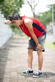 Zmęczona atleta Fotografia Stock