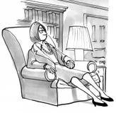 Zmęczona Kobieta ilustracji