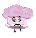 Zmęczona szefa kuchni kapeluszu kreskówka Obraz Stock