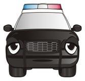 Zmęczona twarz samochód policyjny royalty ilustracja