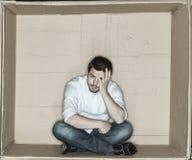 Zmęczony biznesmena odpoczywać fotografia stock