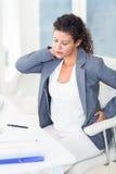 Zmęczony ciężarny bizneswoman Obrazy Stock